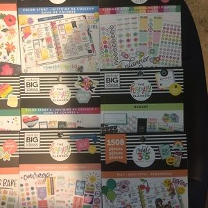 11 Happy planner sticker books!